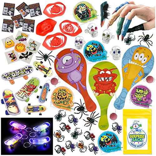 70+ Pc Halloween Trick or Treat Prize Party Favors Toy Assortment (Cool Treats For Halloween Party)