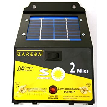 61C2rV wbmL._SY355_ amazon com zareba esp2m z 2 mile solar fence charger Electric Fence Circuit Diagram at mifinder.co