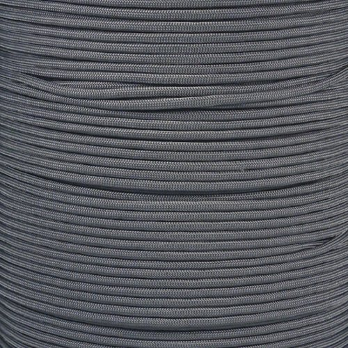 SGT KNOTS Paracord 550 Type III 7 Strand - 100% Nylon Core and Shell 550 lb Tensile Strength Utility Parachute Cord for Crafting, Tie-Downs, Camping, Handle Wraps (Charcoal Grey - 100 ft)