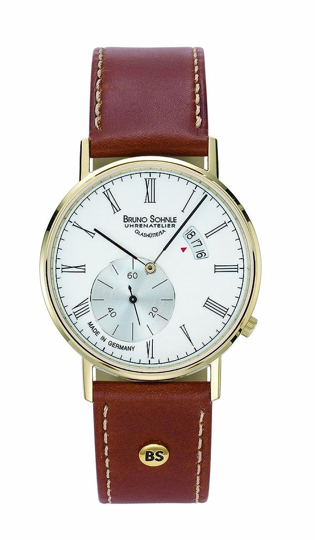 Bruno SÖhnle Herren-Armbanduhr Rondo Analog Quarz Leder 17-33053-931