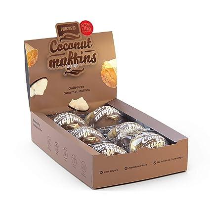 6 x Coconut Muffins - Magdalenas con bajo contenido en azúcares 60 g