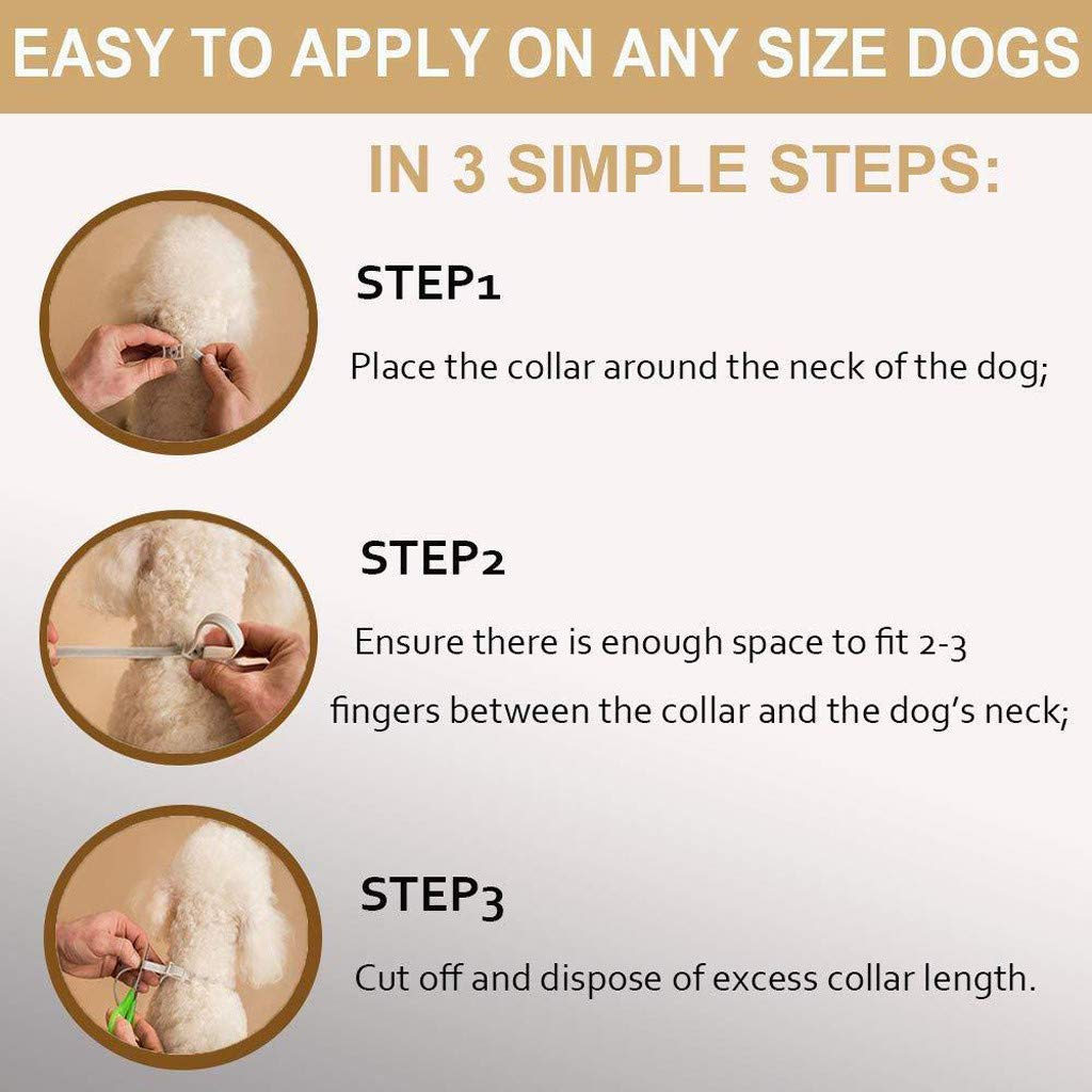 Dog Flea and Tick Collars Natural Flea Prevention Collar for Cats One Size Fits All Adjustable (A) by Buolo-Shower (Image #3)