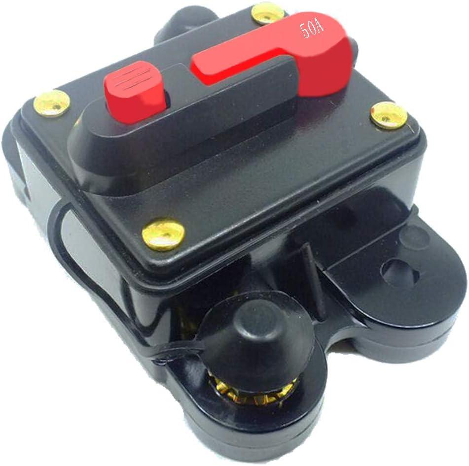 U-BCOO - Disyuntor de Circuito Impermeable Manual con botón de Interruptor, para Coche, Barco, camión, autobús, 12 V, 24 V