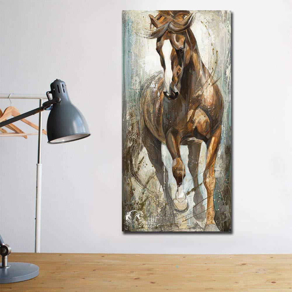 Murale Moderna Tela Verticale Cavallo Pittura Dipinti sul ...