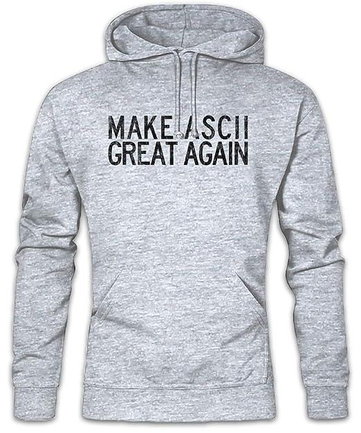 Make ASCII Great Again Hoodie Sudadera con Capucha Sweatshirt Tamaños S - 2XL: Amazon.es: Ropa y accesorios