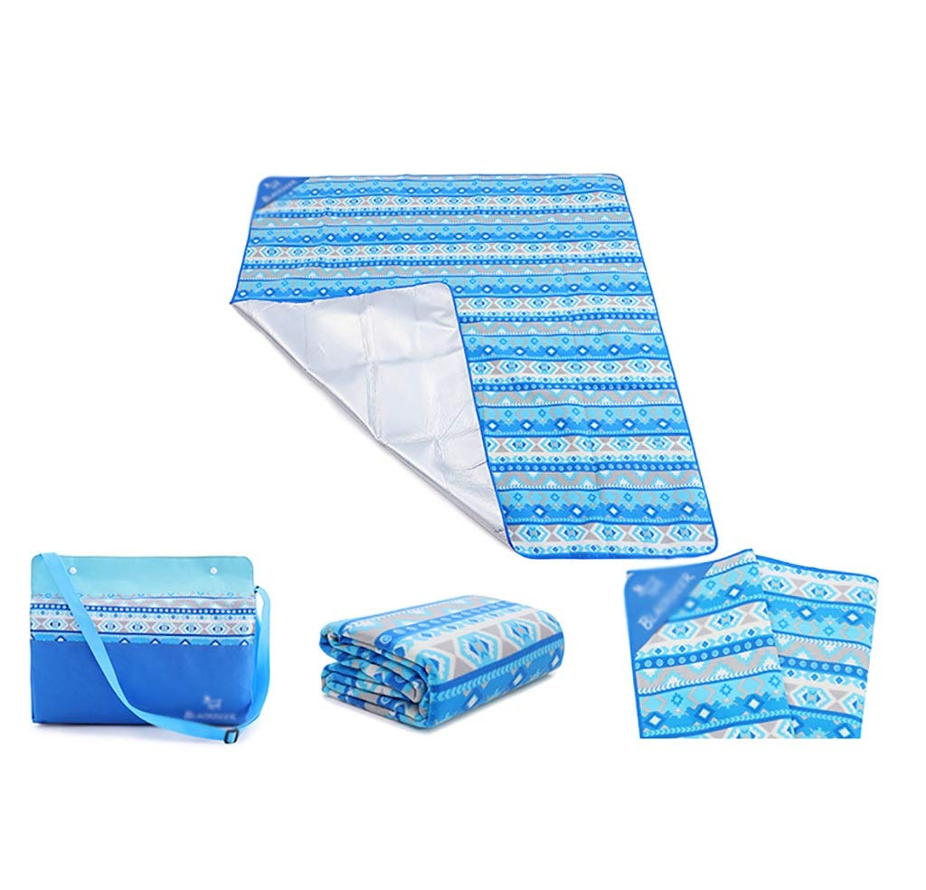 SMSJ-YJ Outdoor Picnic Mats Thick Waterproof and Portable Spring Travel Cushions for Family Travel Stripes (Color : A)