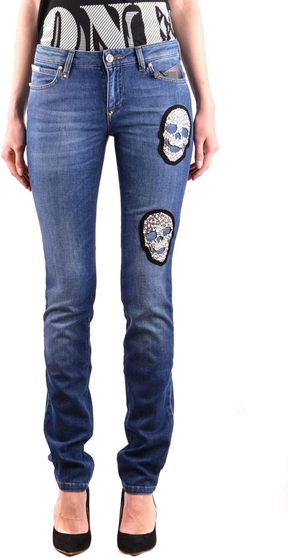 Philipp Plein Luxury Fashion Womens MCBI33820 Blue Jeans | Season Outlet