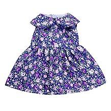 MonkeyJack Flowers Printed Dress Skirt Fit 18inch American Journey Girl My Life Doll -1