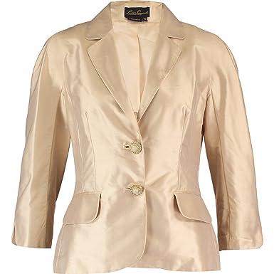 930270c6fe LUISA SPAGNOLI Silk Jacket (ITAL48 UK16, Camel/Fawn): Amazon.co.uk: Clothing