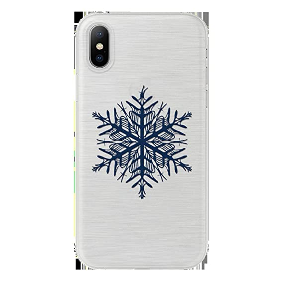 Amazon.com: Christmas Snowflake Soft TPU Cover for iPhone X ...