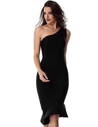 Adyce Bandage-Dress Mujer Vestidos Ropa Vestido Negro de c¨®ctel Fiesta Sexy