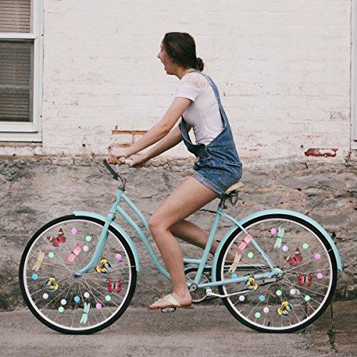 WINOMO Set of Bicycle Decor Bike Bicycle 108pcs Wheel Spoke Beads Luminous Plastic Round Spoke Bead 30pcs Butterflies Clips 6pcs Dragonflies Clips by WINOMO (Image #6)