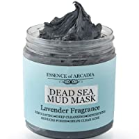 Dead Sea Mineral Mud Mask Scented with Lavender for Face and Body - 100% Natural...