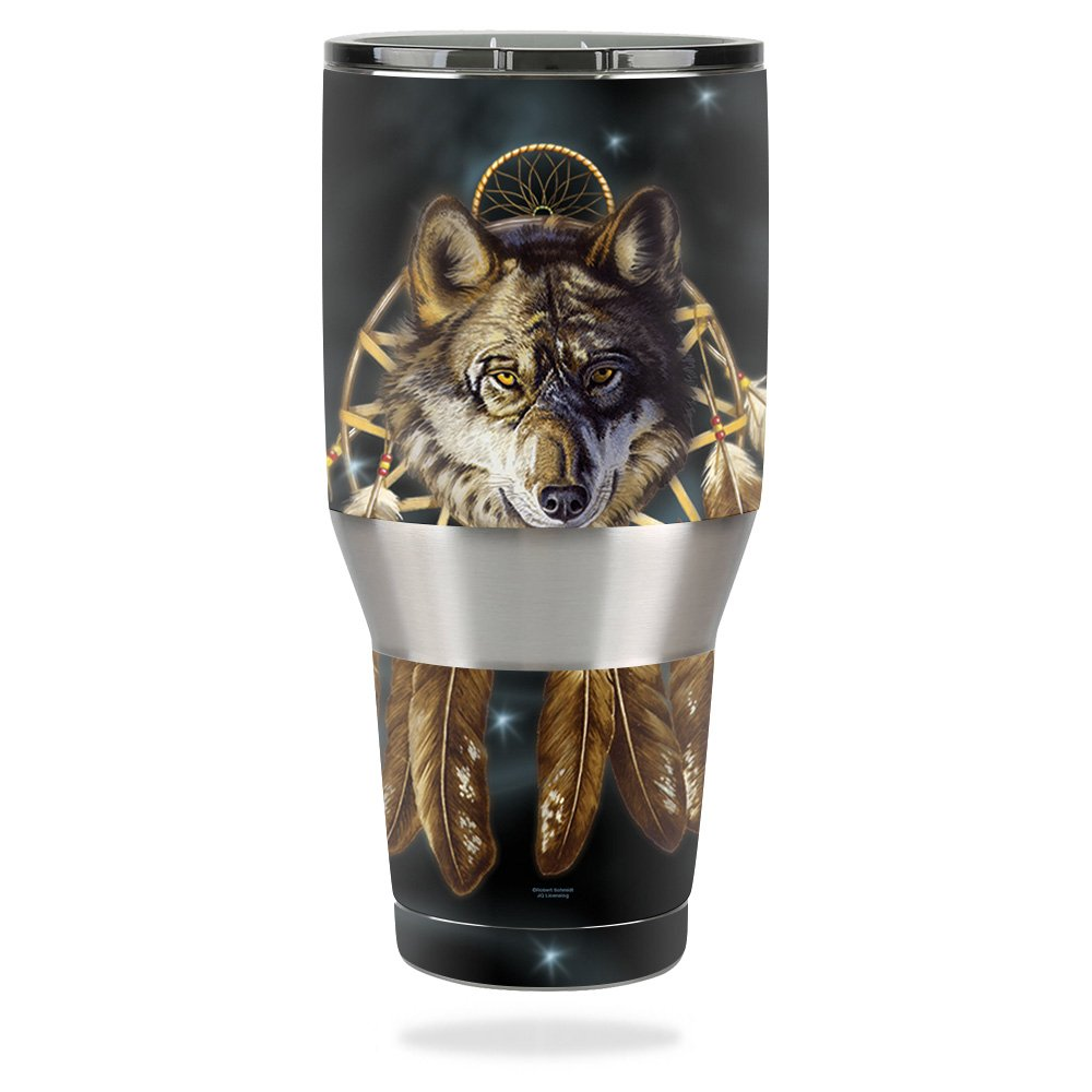MightySkins Skin For Ozark Trail 40 oz Tumbler – Wolf Dreams   Protective, Durable, and Unique Vinyl Decal wrap cover   Easy To Apply, Remove, and Change Styles   Made in the USA