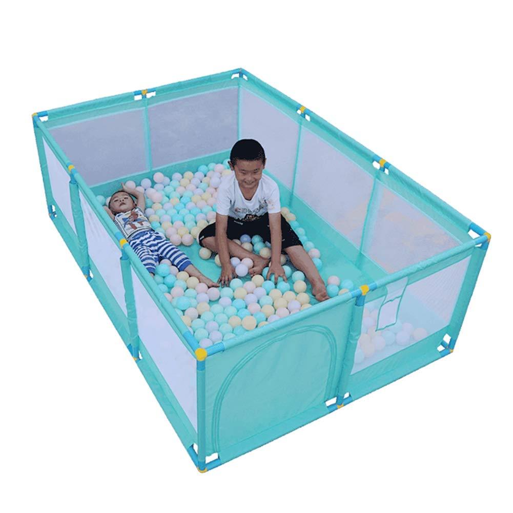【送料無料キャンペーン?】 -ベビーサークル 大きい緑の子供Palypen B07P6DS91Y、屋内屋外のためのProtable赤ん坊の安全演劇の中心ヤード Playpen+mat+ball、190×128×66cm : (サイズ さいず : Playpen+mat+ball) Playpen+mat+ball B07P6DS91Y, ちょいプラ天然石パワーストーン館:2235f421 --- a0267596.xsph.ru
