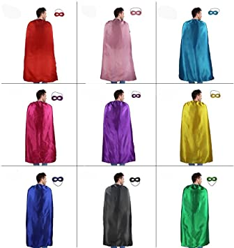 iROLEWIN 10 Pack a Granel Adultos Capas y máscaras de superhéroes ...