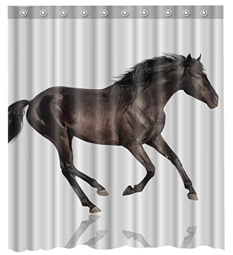 Amazon Horse Shower Curtains For The Bathroom12 Hooks Included