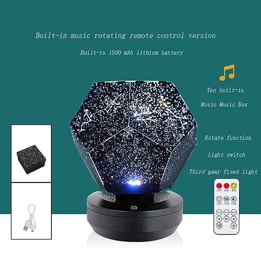 Noche Estrella del Proyector De Luz USB De Carga Remota Estrellas ...