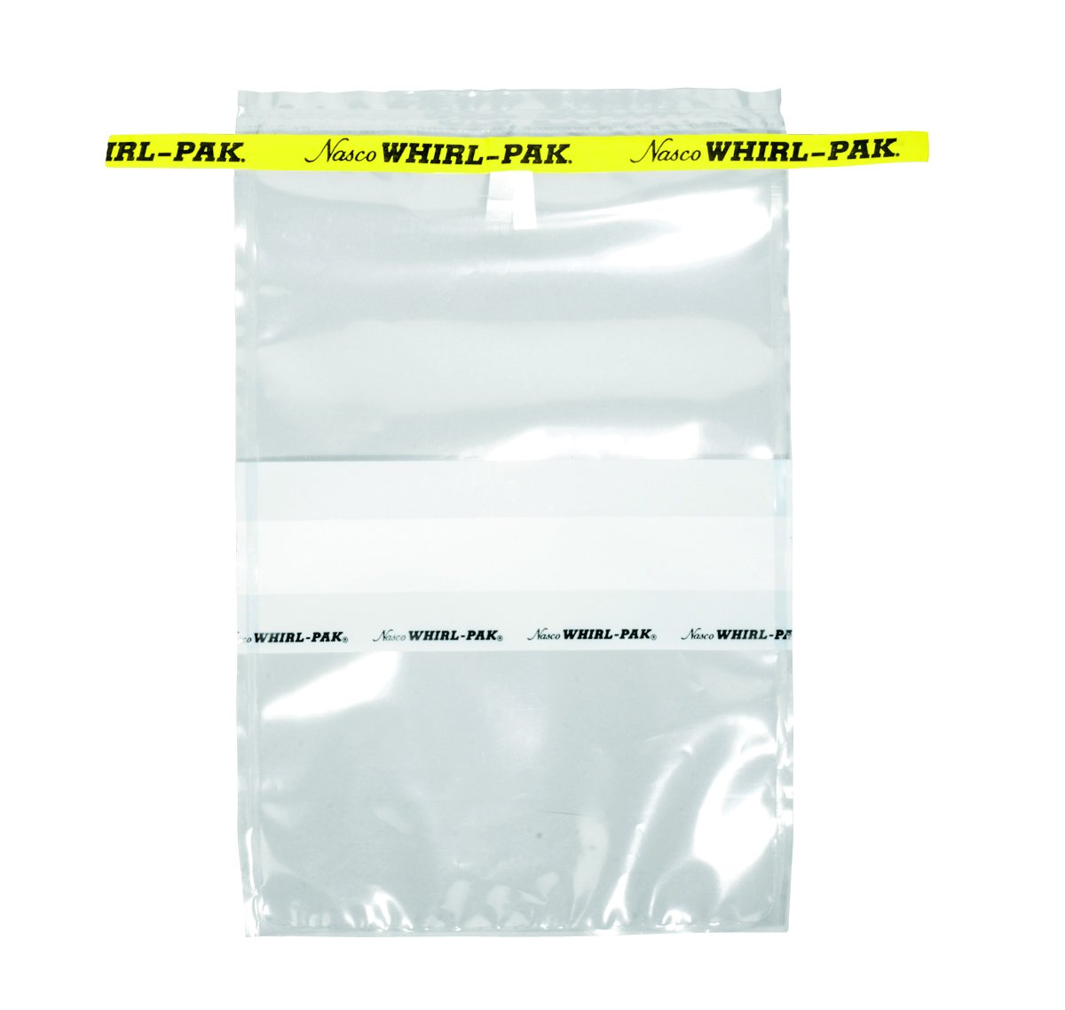 Nasco Whirl-Pak B01297WA Write-On Bag, 23cm L x 15cm W, 0.076mm Thickness, 710ml Capacity (Box of 500)