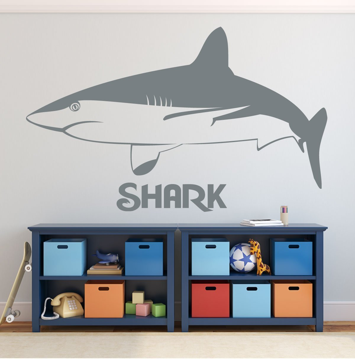 Shark Wall Decal - Vinyl Sticker Art for Home Decor, Bedroom, Room, Playroom Decoration - Diver Gift