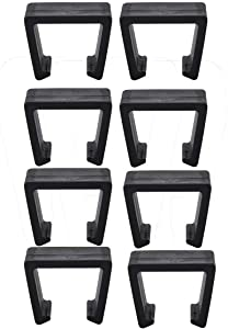 O'lemon 8 Pack Rattan Furniture Clips,Outdoor Patio Wicker Furniture Alignment Sofa Rattan Chair Sofa Fasteners Clip Sectional Connector (2-2.85 INCH Medium, C6)