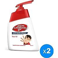 Lifebuoy Anti Bacterial Hand Wash Total 10, 2 x 200ml