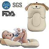 Alfombrilla para bañera de bebé, de 0 a 6 meses, de malla antideslizante, colchón flotante, elastano, Beige Dog, 54cm/21.26in X 33cm/12.99in