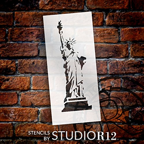 Statue of Liberty Stencil by StudioR12 | American Icon Art - Medium 6 x 13.5-inch Reusable Mylar Template | Painting, Chalk, Mixed Media | Use for Crafting, DIY Home Decor - STCL1119_2 ()