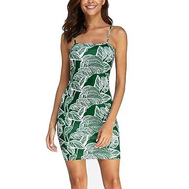 SANFASHION Bekleidung - Vestido - Trapecio o Corte en A - Sin Mangas - para Mujer Verde Medium: Amazon.es: Ropa y accesorios