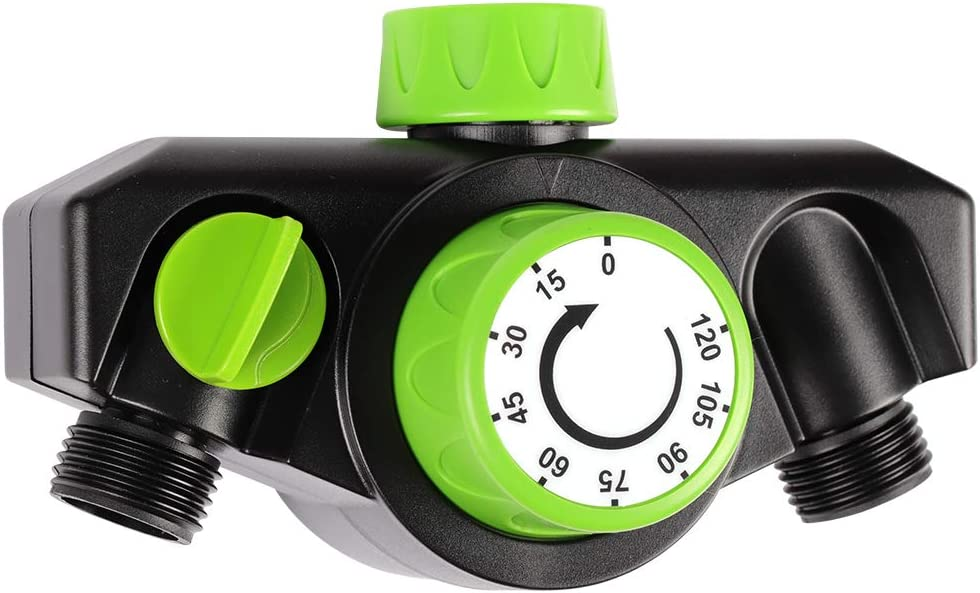 Kasonic Mechanical Watering Timer, 2 Ways Use, Durable High Impact Construction Timed, Watering Up to 120 Minutes, No Batteries Required, Oversized Dial, Easy Use: Home & Kitchen