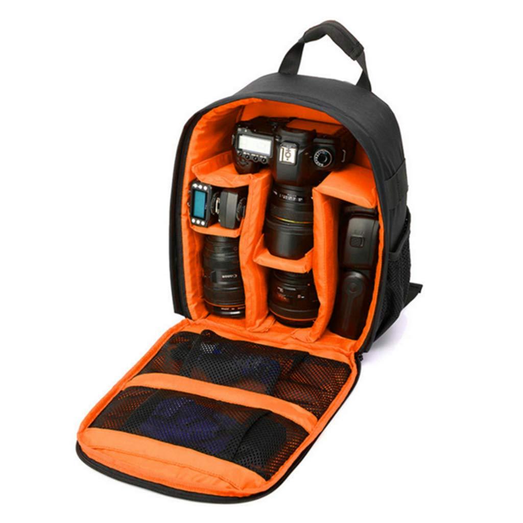 JAGENIE 写真 ノートパソコン バックパック レディース メンズ 防水 カメラケース Canon Nikon レンズ対応 オレンジ JAGENIE B07MDG19Q6 オレンジ