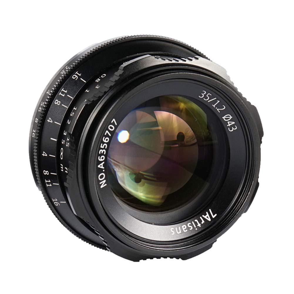 35mm F1.2 APS-C マニュアルフォーカスレンズ コンパクトミラーレスカメラに幅広くフィット Fuji X-A1 X-A10 X-A2 X-A3 A-at X-M1 XM2 X-T1 X-T10 X-T2 X-T20 X-Pro1 X-Pro2 X-E1 X-E2 E-E2s   B07LFBM6HM