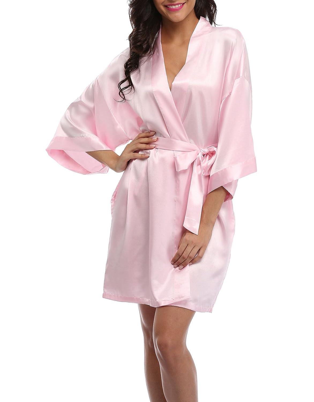 02415034230 VOGMATE Femme Jour de Mariage Robe de Chambre de Mariée Demoiselle  D honneur Pyjama