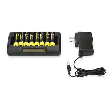 Amazon.com: Pilas recargables AA con cargador – RayHom 8 ...