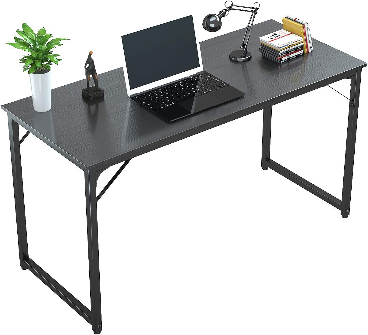 "Tycholite Computer Desk 47"" Modern Sturdy Office Desk PC Laptop Notebook Study Writing Table for Home Office Workstation, Black"