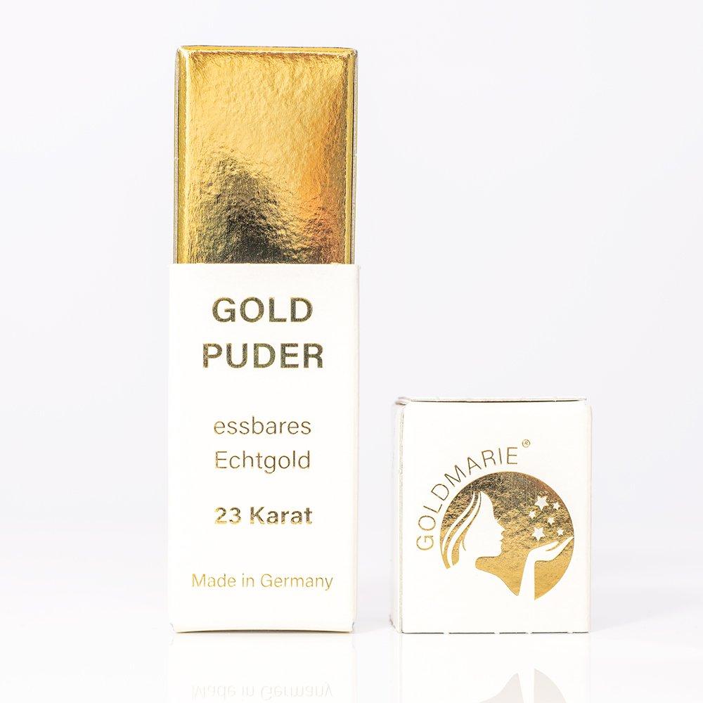 Goldstreuer 23 Karat Goldmarie Essbares Blattgold Goldflocken 300 mg