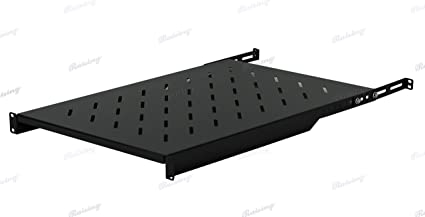 "Fixed Rack Server Shelf 1U 19/"" 4 Post Rack Mount Adjustable 30/""-35/"""