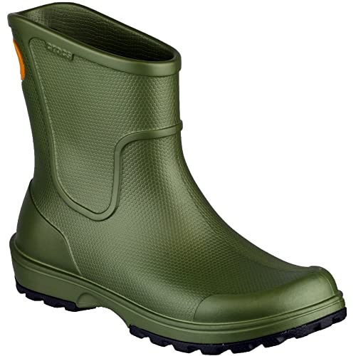 ef1032dbb50ca0 Crocs Mens Mens Pull On Croslite Welly Wellington Rain Boot Green ...