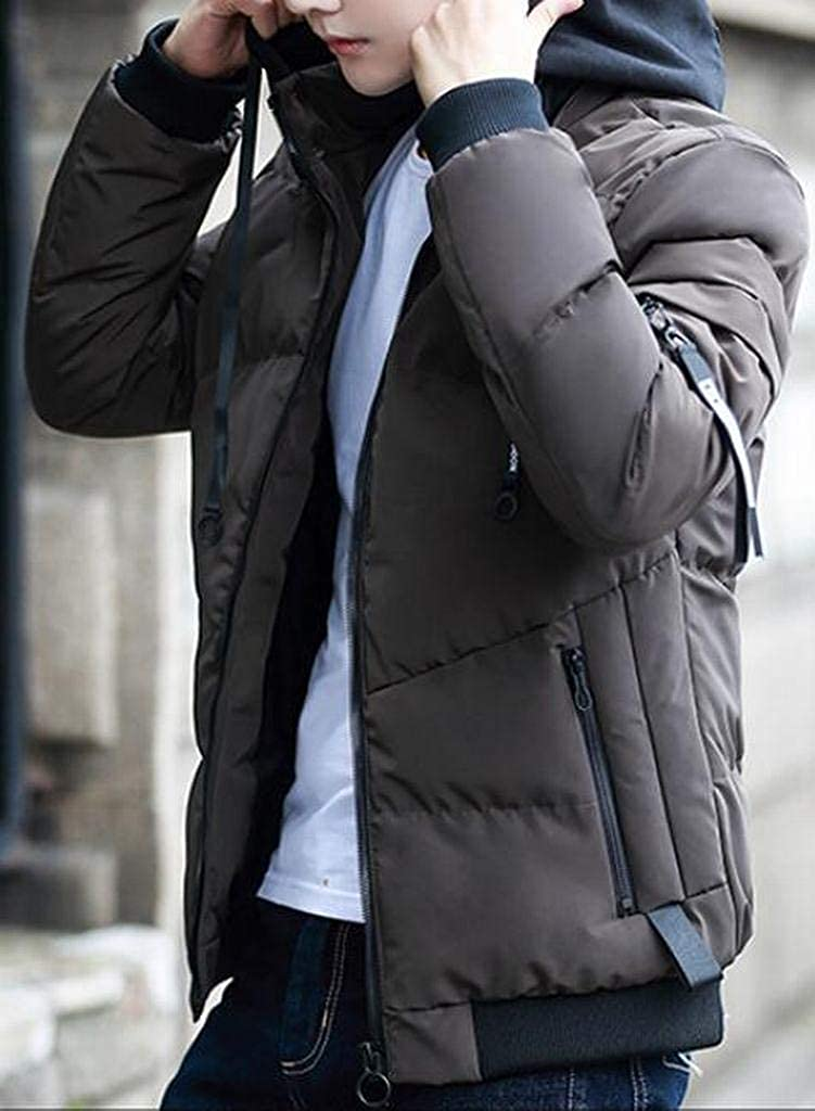 MMCP Mens Slim Thicker Winter Hooded Warm Down Quilted Jacket Coat Outwear