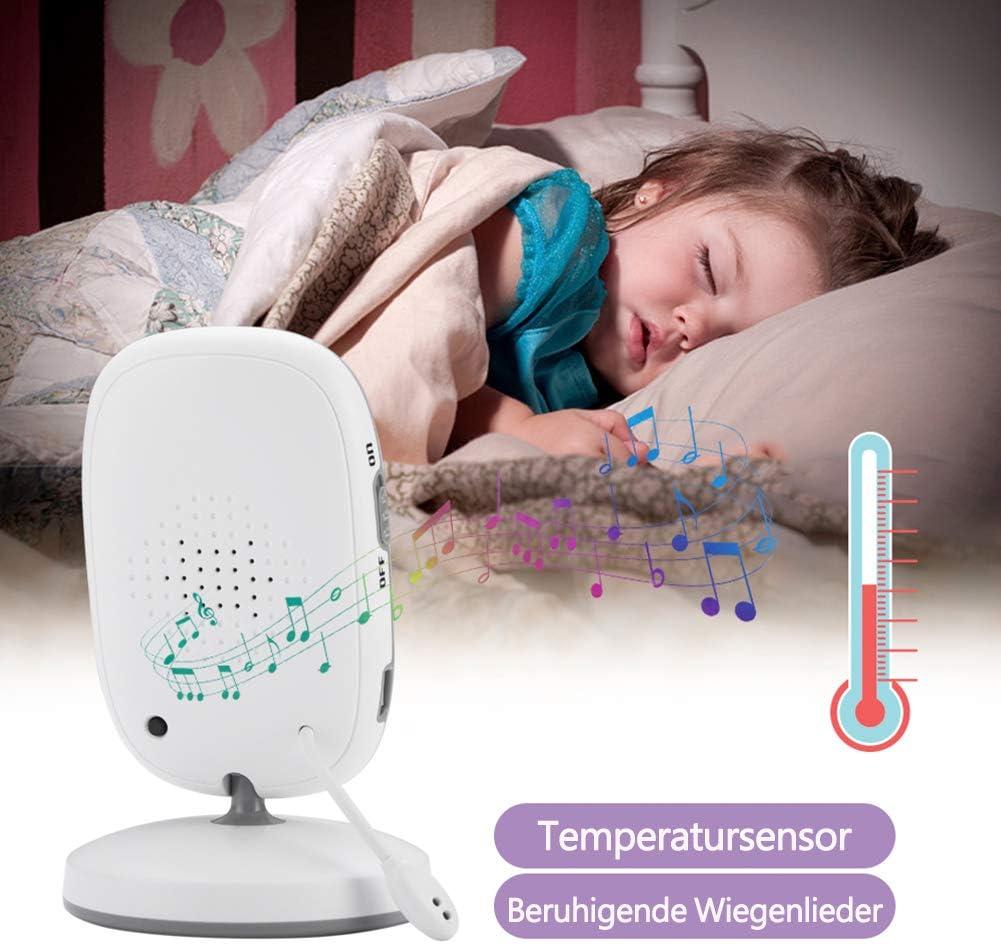 Schlafmodus NVMIAO Babyphone 3.2 Zoll Babyphone mit Kamera Video /Überwachung Smart Baby Monitor TFT LCD Digital dual Audio Funktion Temperatursensor Upgraded NV-603 Nachtsicht Schlaflieder