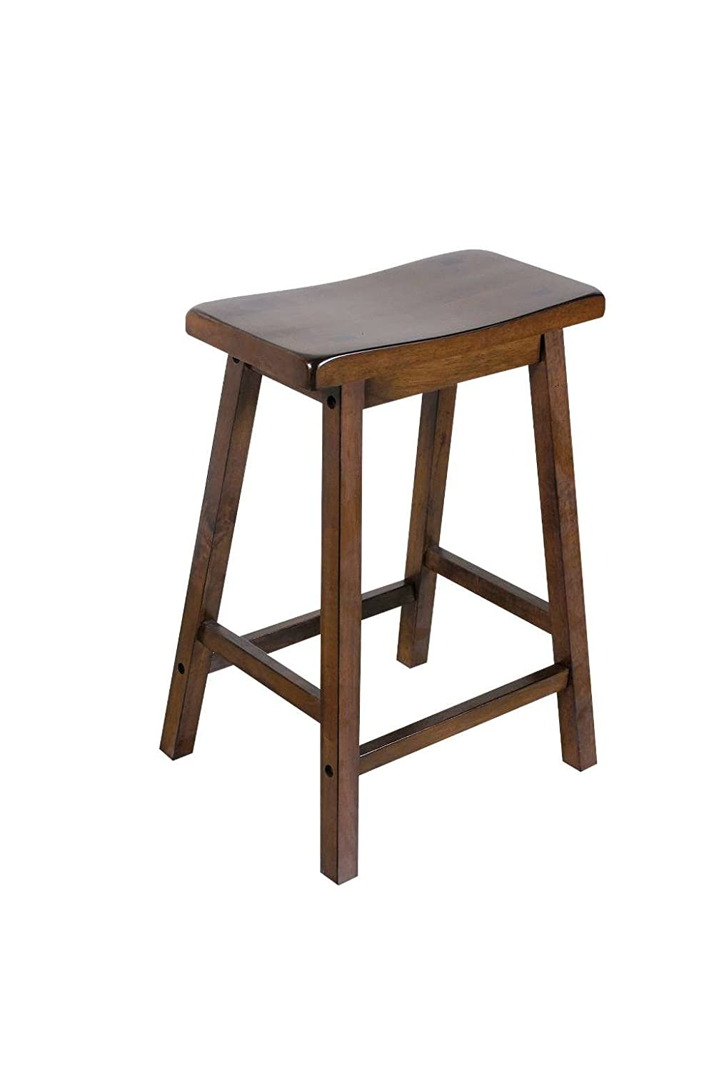 ACME 07304 Set of 2 Walnut Finish Barstool, 24H 24H