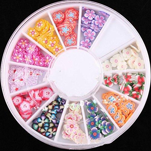 fengge 3d Mix flor Nail Art Uñas (extremos de arcilla polímero decoración