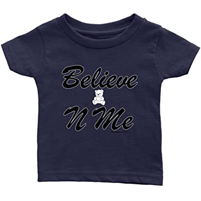 1Faith1Love Believe-N-ME Teddy Infant Tee, Navy Blue
