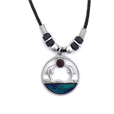 Amazon tapp collections trade mood pendant necklace dolphin tapp collections trade mood pendant necklace dolphin twins aloadofball Gallery