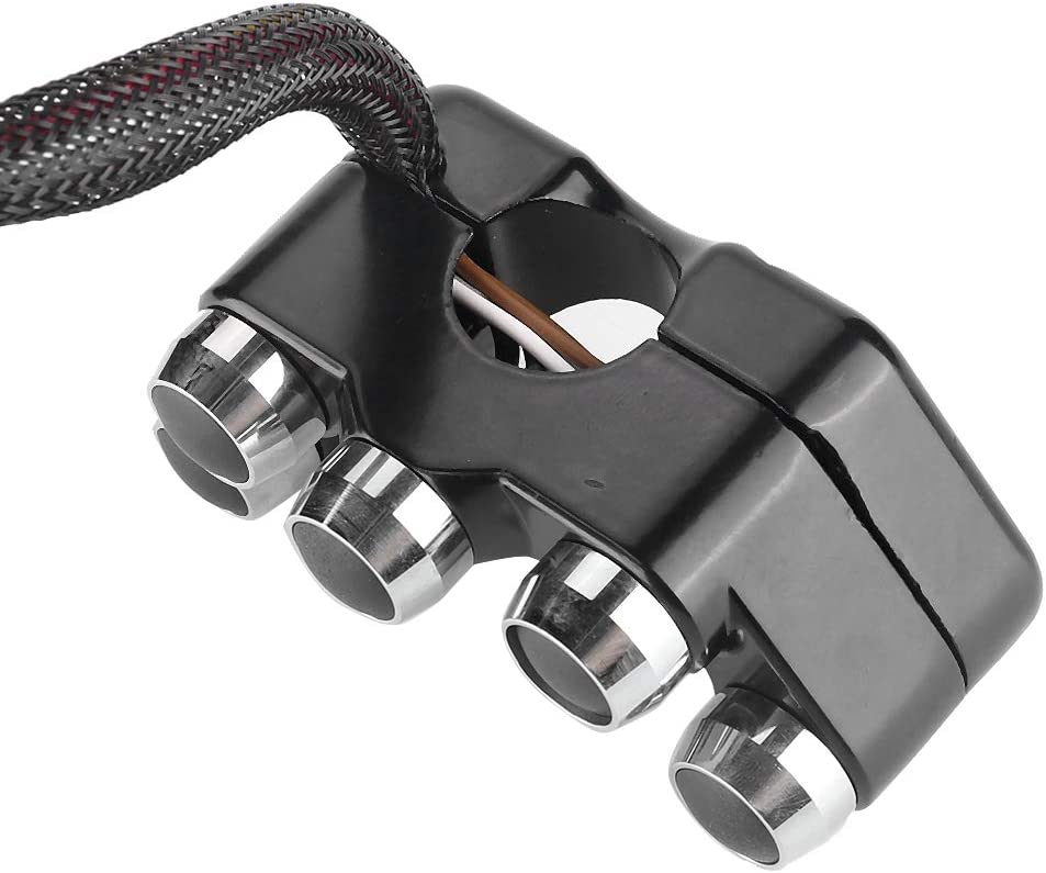 7//8 inch 22mm motorrad CNC Aluminium Lenker Schalter ON//OFF Automatische R/ückkehr 5 Taste