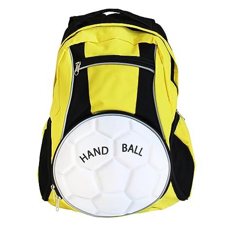diapolo balonmano Mochila Bolso deportivo (Varios Colores Composición, amarillo y negro