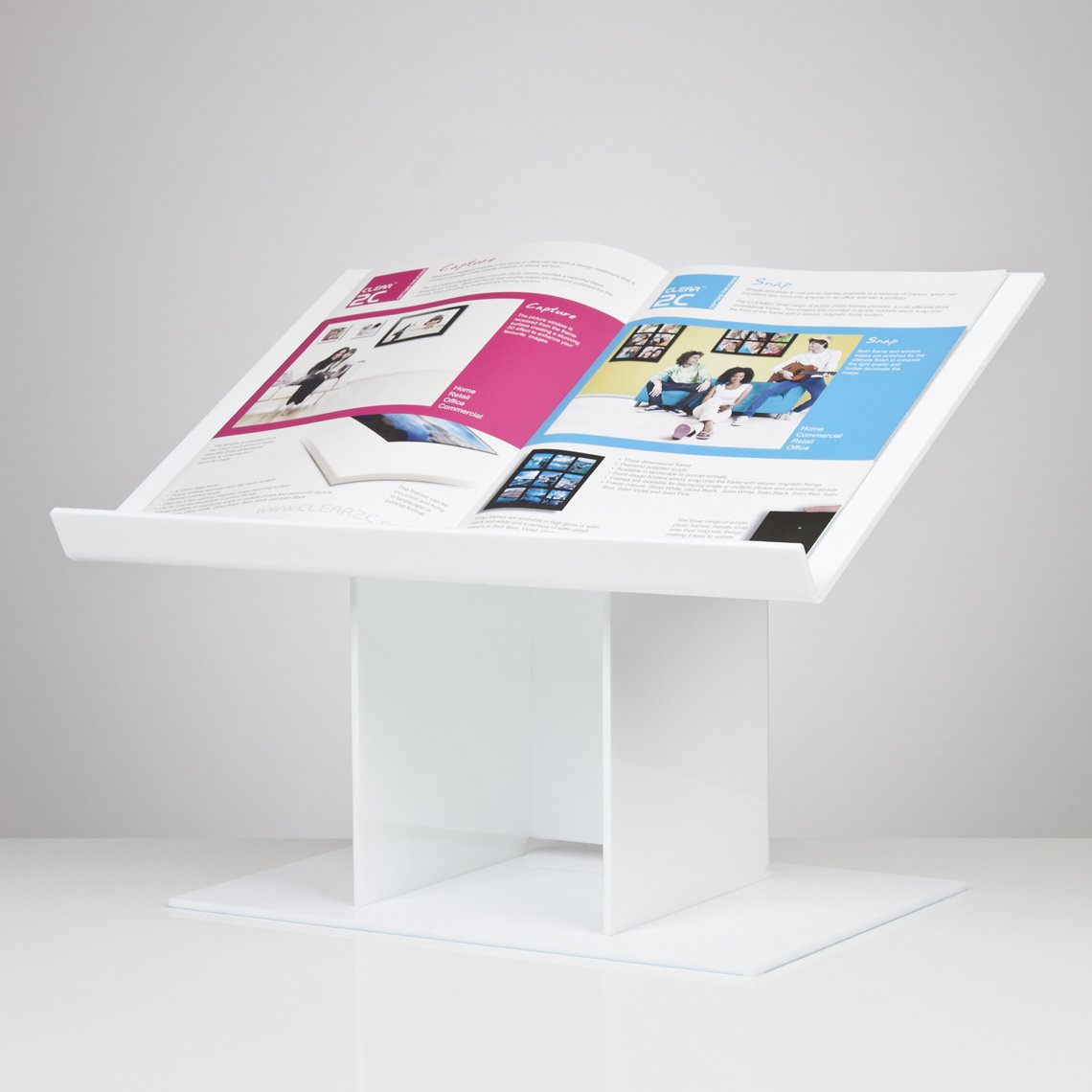 Luminati Desk Top Lectern - White