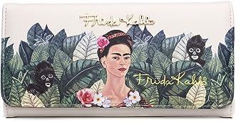 Frida Kahlo Licensed Tri-fold Wallet, Jungle Collection