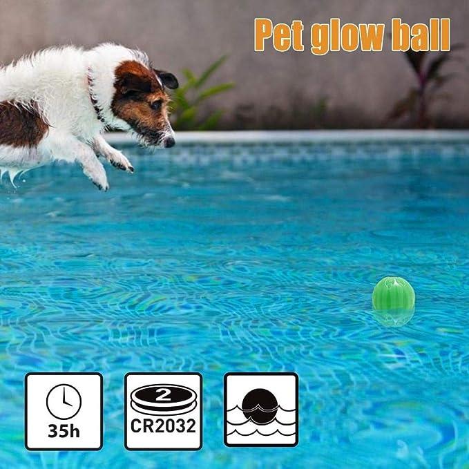 Rlorie - Pelota saltadora para Animales de compañía USB, Juguete ...
