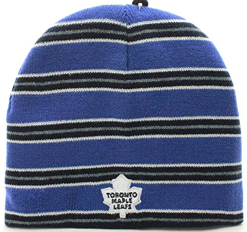 Nhl Reversible Knit Hat - NHL Toronto Maple Leafs Reversible Beanie Knit Hat Cap Gorra (One Size, Blue)